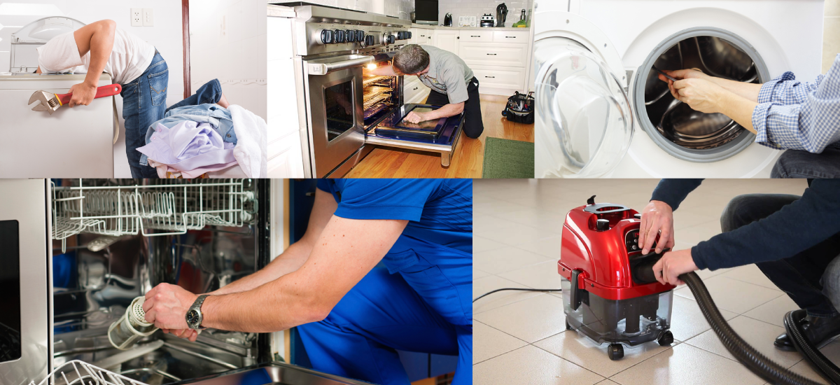 Washing Machine • Tumble Dryer • Dishwasher • Electric Oven • Electric range cooker • Vacuum Cleaner Repairs
